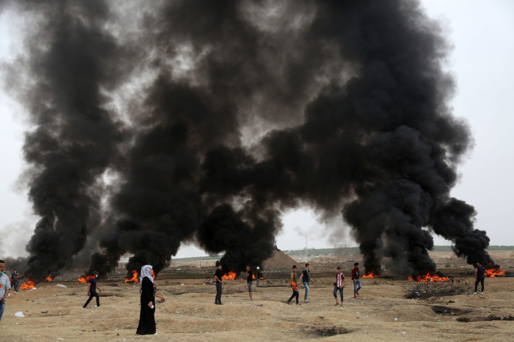 Grande marche du Retour, Bande de Gaza • 4 mai 2018 • Mohammed Zaanoun / Activestills.org