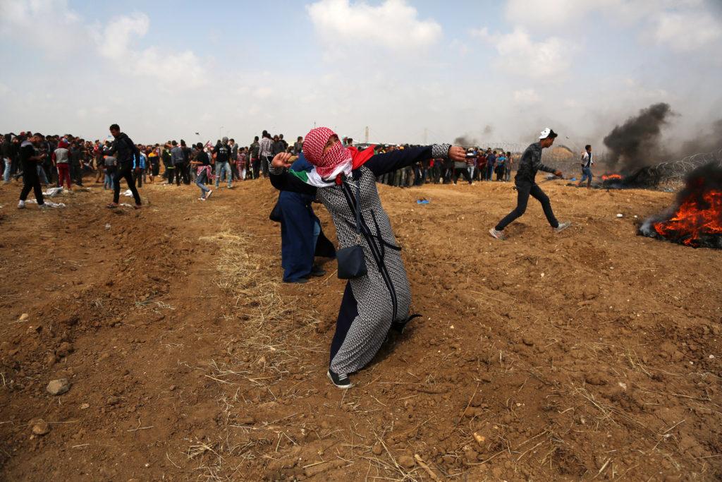 Grande marche du Retour, Bande de Gaza • 427 avril 2018 • Mohammed Zaanoun / Activestills.org